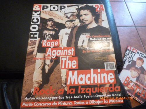 revista rock & pop  the machine  nº24