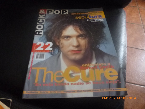 revista rock &  the cure   - n° 22 -marzo  96