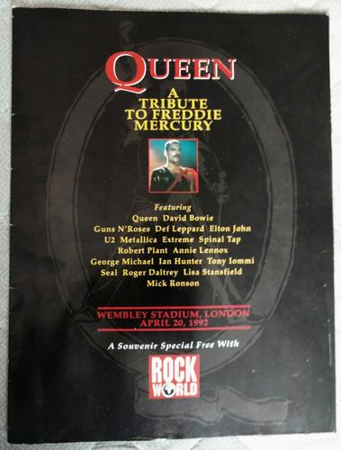 revista rock world a tribute to freddie mercury