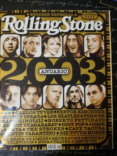 revista rolling stone - edición especial- anuario 2003