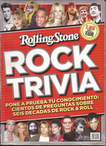revista rs rock trivia - michael jackson, u2, bob dylan, etc