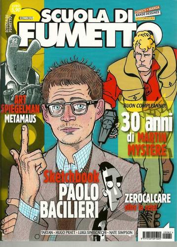 revista scuola di fumetto 82 - italiana  bonellihq cx432 h18
