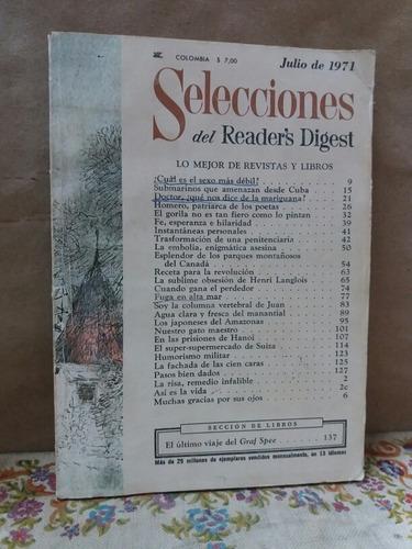revista selecciones reader's digest - julio de 1971