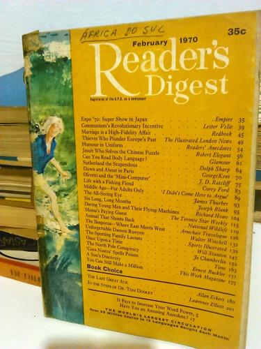 revista seleções - import. áfrica do sul 1970 - frete grátis