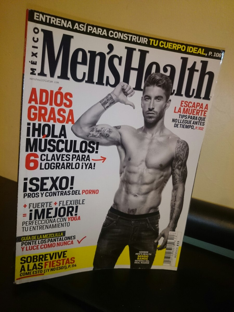 b25891ff14 Revista Sergio Ramos Mens Health Mexico Año 19  12 Gym Moda - Bs ...