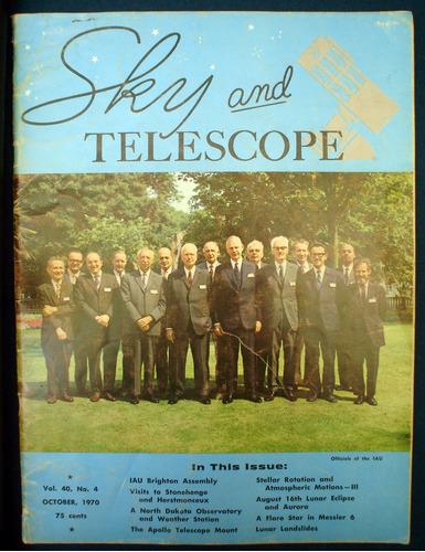 revista sky and telescope 1970