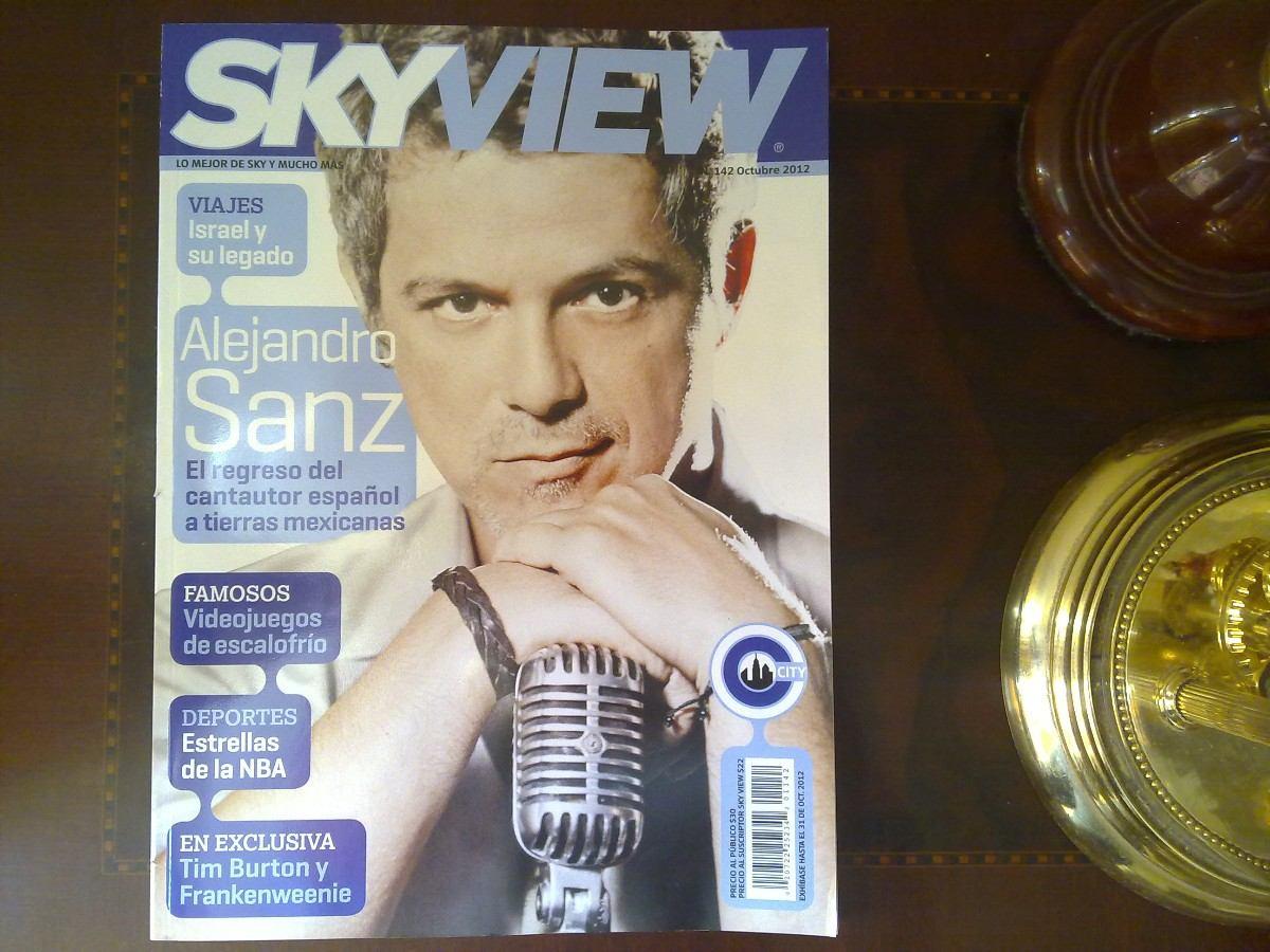 Revista Sky View Alejandro Sanz Tim Burton Emma Watson $ 75 00