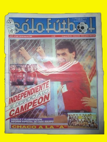 revista solo futbol n°205 - indepte campeon, chaco for ever