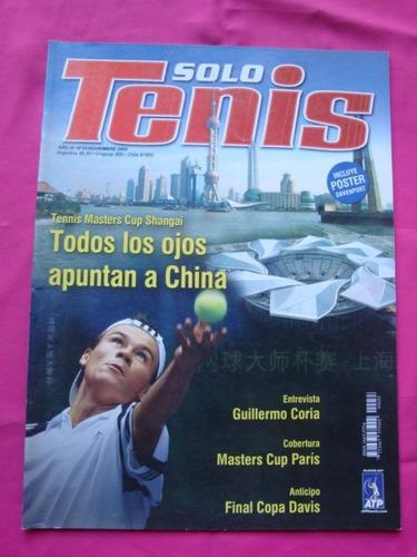 revista solo tenis n° 33 año 2005 poster davenport - davis