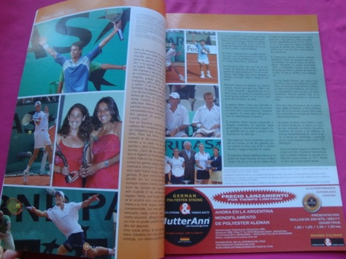 revista solo tenis n° 6 año 2003 - guillermo coria