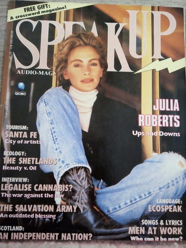 revista speak up july 1993 - julia roberts