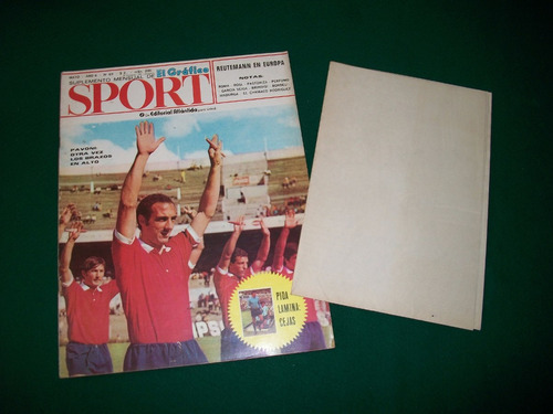 revista sport . año 6 numero 69 . poster de cejas .