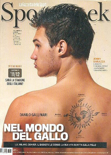 revista sportweek: danilo gallinari / evan rachel wood