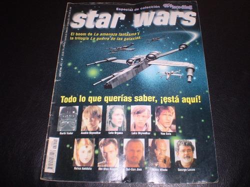 revista star  wars  especial de colección tv novelas (384w