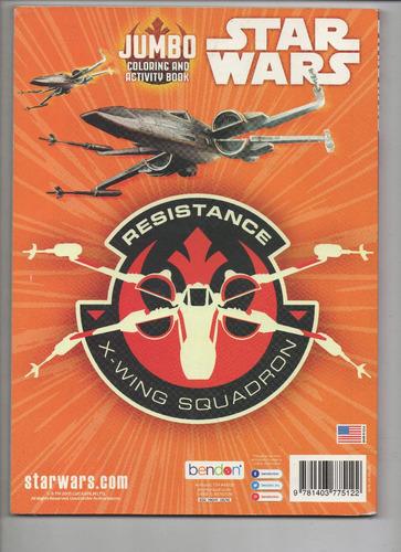 revista star wars para colorir jumbo - frete gratis
