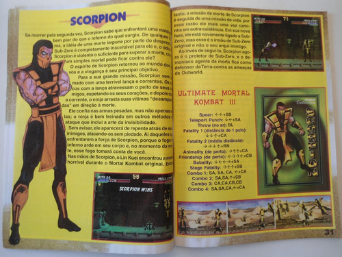 revista street fighter  ,mortal kombat  ,killer instinct