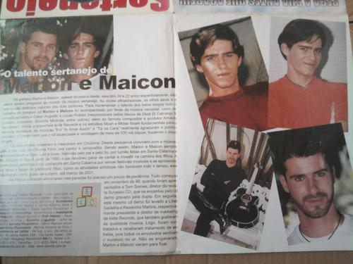 revista super poster n°13 daniel sertanejo 4 posters zezé e+