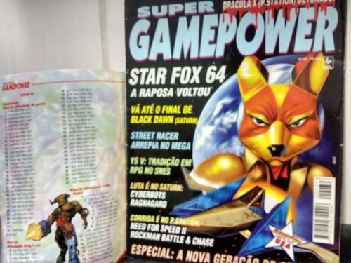 revista supergamepower 39 c/ encarte sgp dicas - abril rjhm
