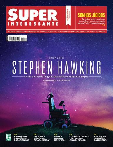 revista superinteressante 387 stephen hawking abr 2018 nova!