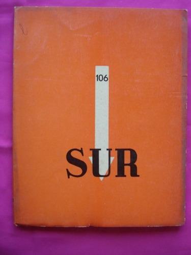 revista sur n° 106 año 1943 victoria ocampo, lanuza, ayala