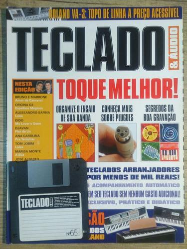 revista teclado e áudio  #65 com disquete