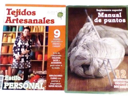 revista tejidos artesanales crochet 2 agujas manual de punto