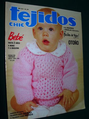 revista tejidos chic 235 bebe otoño moda ropa costura fashio