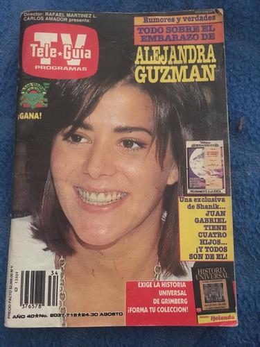 revista teleguia de 1991 alejandra guzman