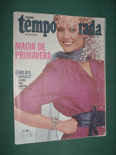 revista temporada sin moldes moda 9/80 primavera costura
