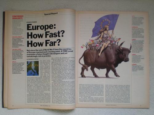 revista time 09/12/1991 creación unión europea mercado común