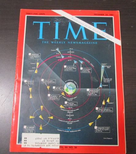 revista time 1965 rendezvous on the road to the moon