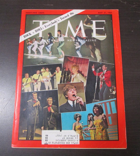 revista time 1965 rock n roll everybodys turned on *
