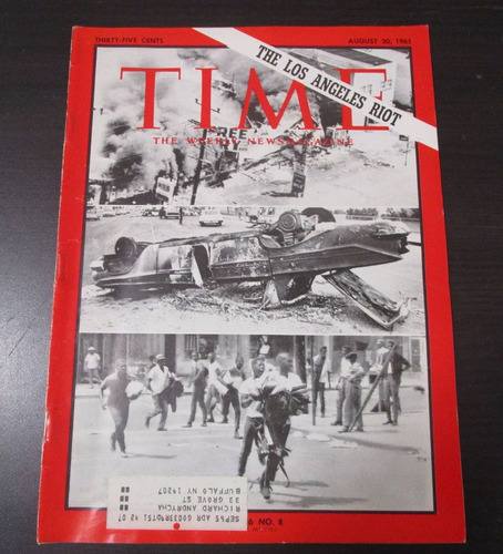 revista time 1965 the los angeles riot