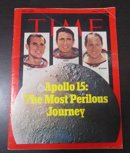 revista time 1971 apollo 15 viaje a la luna nasa apolo