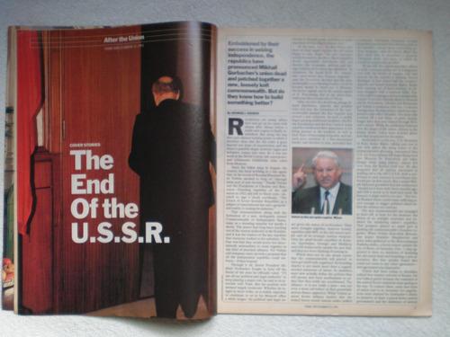 revista time 23/12/1991 fin urss mijail gorbachov entrevista