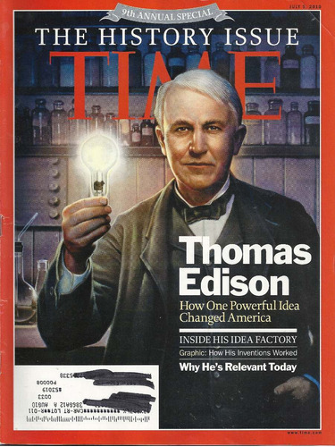 revista time: thomas edison / james patterson / cameron diaz