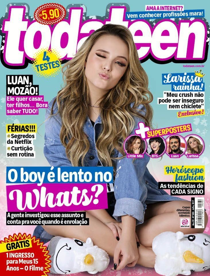 d736645a24300 revista todateen 260 larissa manoela c poster bts little mix. Carregando  zoom.
