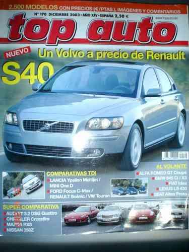 revista top auto volvo s40  bmw 645 alfa lexus nissan mazda