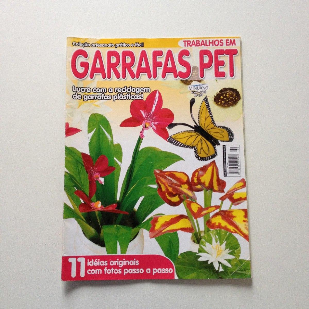 Revista Trabalhos Em Garrafas Pet Borboleta Ninféia N02 R 2300