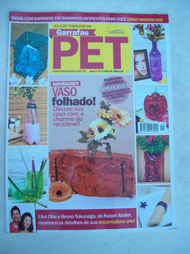 revista: trabalhos em garrafas pet nº 19 - kazari atelier