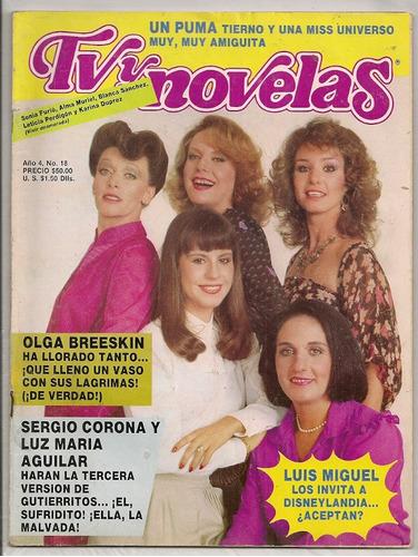 revista tvynovelas alma muriel blanca sánchez 1982
