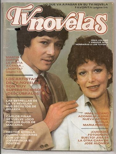 revista tvynovelas irma lozano héctor bonilla 1981