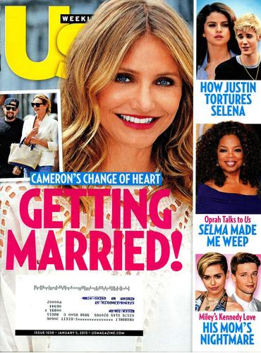 revista us: cameron diaz / mel b / shailene woodley / gaga
