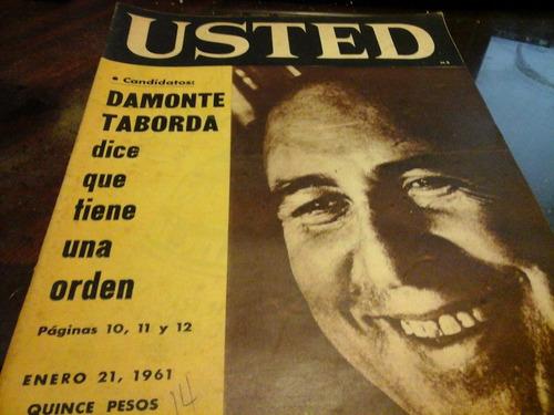 revista usted n 14 damonte taborda 21 enero 1961