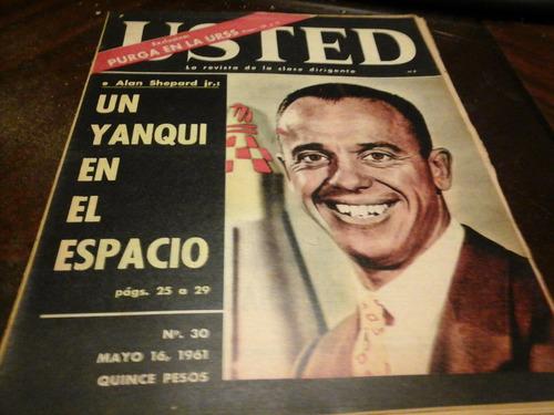 revista usted n 30 alan shepard mayo 1961