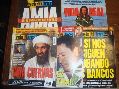 revista veintitrés - lote de 5 revistas