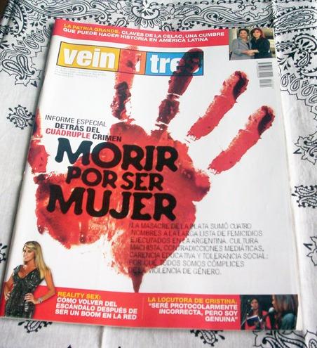 revista veintitrés nº 700 morir por ser mujer