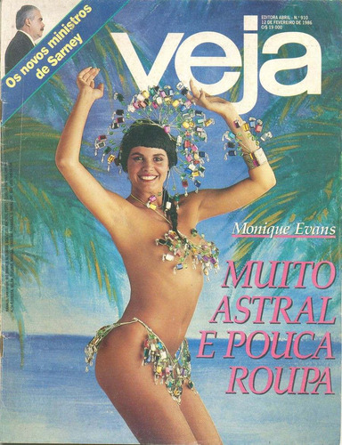 revista veja - 1986 - monique evans* roberto carlos*