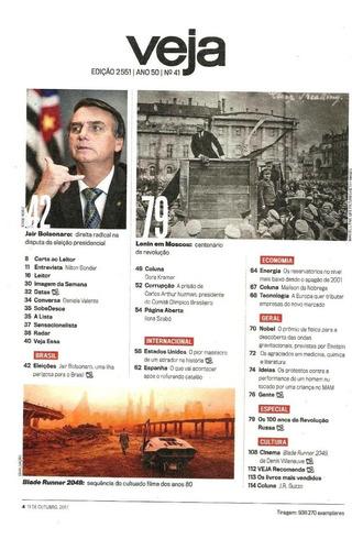 revista veja 2551 - bolsonaro - revolução russa 100 anos