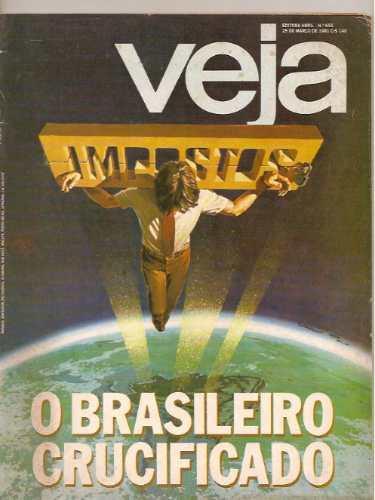 revista veja - o brasileiro crucificado